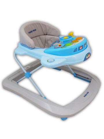 Dětské chodítko Baby Mix blue-grey