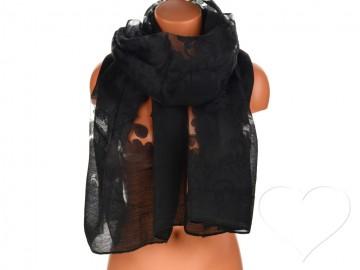 Dámský jednobarevný šátek - černý