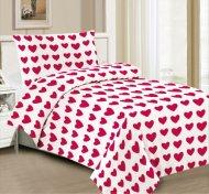 Hebké povlečení 140x200+70x90 Red line of hearts