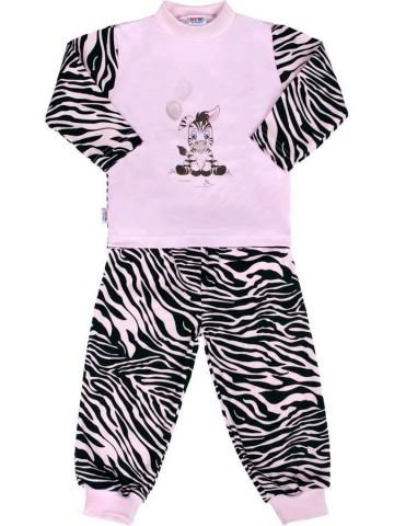 Dětské bavlněné pyžamo New Baby Zebra s balónkem růžové
