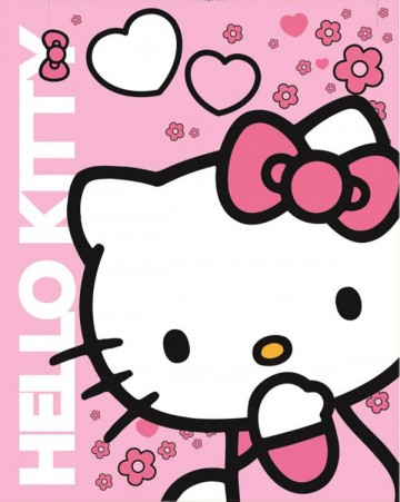 Fleece deka do auta Hello Kitty
