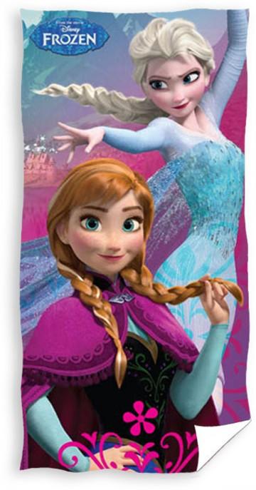 Plážová osuška Ledové Království Anna a Elsa 70/140 cm