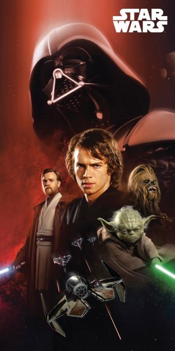 Plážová osuška Star Wars 75/150