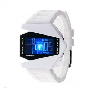 Designové digitální hodinky - bílé