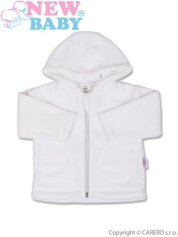 Dojčenský fleecový kabátik New Baby Kubík biely