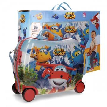 Dětský kufřík na kolečkách Super Wings mountain MAXI