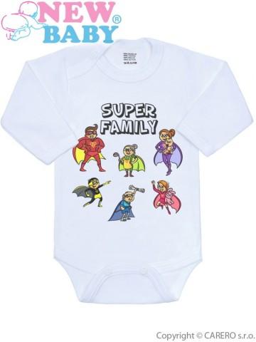 Body s potlačou New Baby SUPER FAMILY