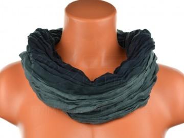Dámský tunelový šátek v odstínech jedné barvy - černý