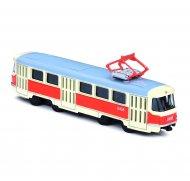 Kovová tramvaj Tatra T3, 16 cm - na zpětný chod
