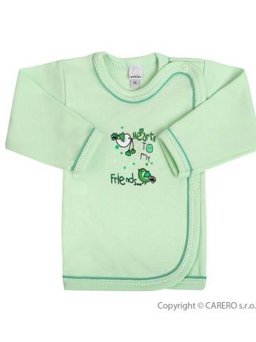 Dojčenská košieľka Bobas Fashion Benjamin zelená