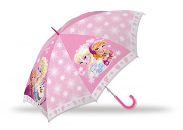 Vystřelovací deštník Ledové Království růžový