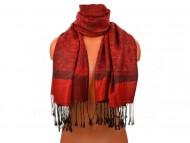 Női klasszikus sál - elegancia, 30x180 - piros