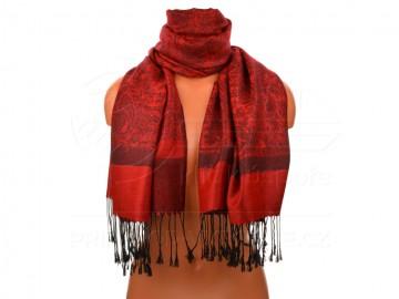 Eșarfă clasică pentru femei - elegance - roșu