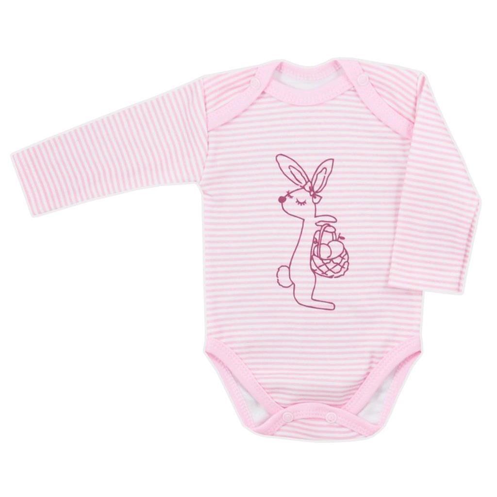 Dojčenské body  Bobas Fashion Mestečko ružové