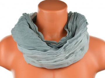Dámský tunelový šátek v odstínech jedné barvy - šedý