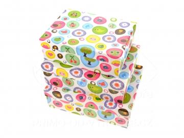 Sada úložných krabic 3ks - Zvířátka a rostliny