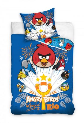 Povlečení Angry Birds Rio modrá 140/200