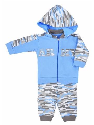 2-dielna bavlnená kojenecká súprava Koala Army modrá