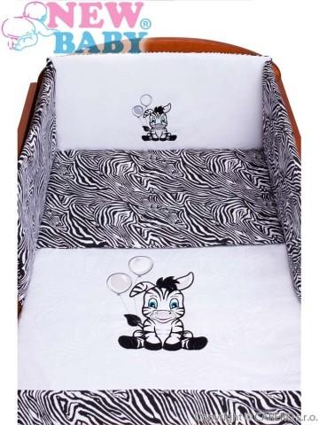 3-dílné ložní povlečení New Baby Zebra 100/135 bílo-černé