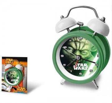Kovový budík Star Wars Yoda 12 cm