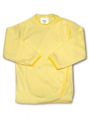 Dojčenská košieľka prúžkovaná New Baby žltá.