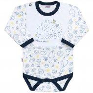 Kojenecké body s dlouhým rukávem New Baby Hedgehog modré
