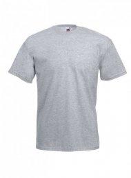 Pánské bavlněné tričko, světle šedé - žíhané, velikost XXXXL