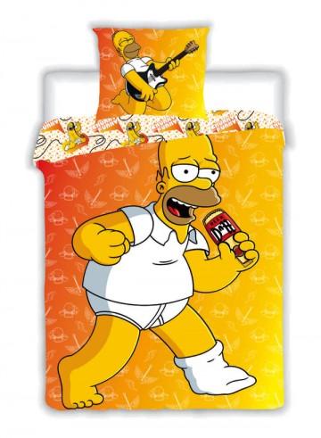 Povlečení Homer Simpson 2015 žlutý 140/200