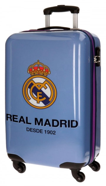 JOUMMABAGS Cestovní kufr ABS Real Madrid One color one club blue objem 33 l