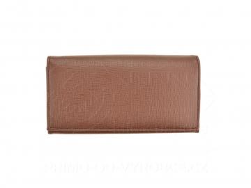 Dámská koženková peněženka - hnědá, vzorovaná [6967]