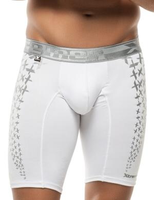 Boxeri Xtremen Sports Boxer Printed alb, 1 perechi, mărimea L