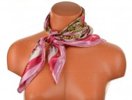 Malý šátek s královskou bordurou, 55x55cm - růžový