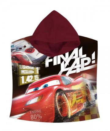Pončo Cars Final 60/120 cm