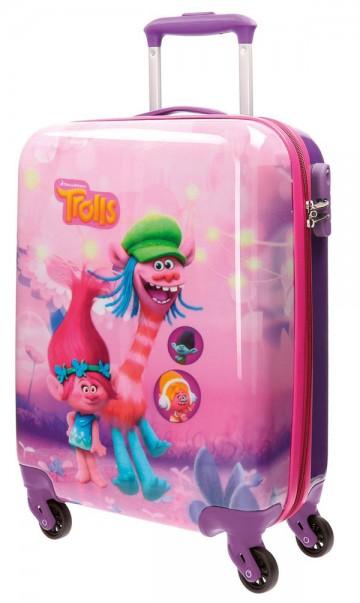 Cestovní kufr ABS Trollové Friends 55 cm