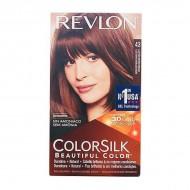 Barva bez amoniaku Colorsilk Revlon - Zlatá hnědá, Nº 43