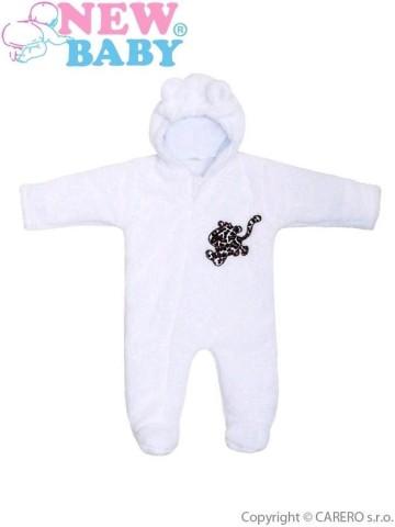 Zimní overal New Baby Leopardík bílý