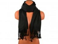 Jednobarevná šála - černá