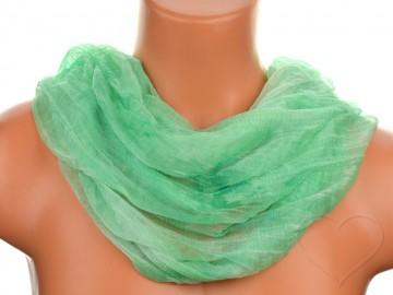 Šátek tunel batika - zelený