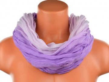 Dámský tunelový šátek v odstínech jedné barvy - světle fialový