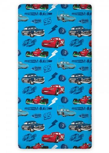 Prostěradlo Cars modré 90/200