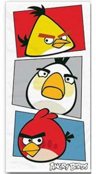 Fürdőlepedő Angry Birds fehér 70/140