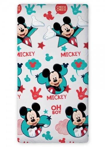 Prostěradlo Mickey grey 90/200