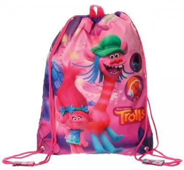 Taška na tělocvik a přezůvky Trollové Friends 40 cm