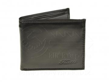 Pánská koženková peněženka Kutti - černá, lesklá [6923]