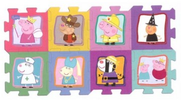 Puzzle Peppa Pig pěnové 8 dílků