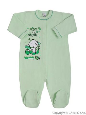 Dojčenský overal Bobas Fashion Benjamin zelený