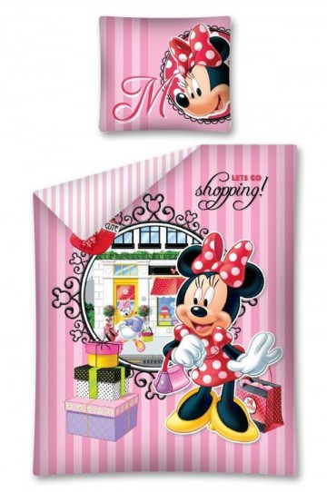 Ágyneműhuzat Minnie Shopping 140/200 cm