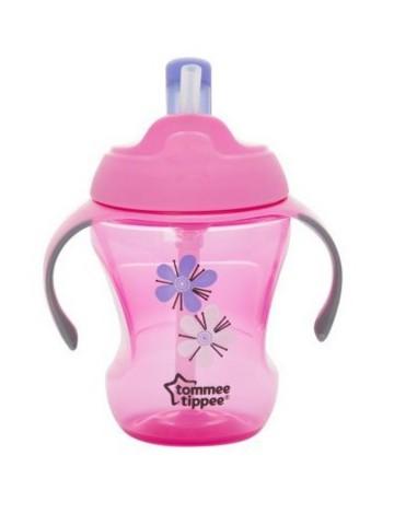 Dětský hrneček s brčkem Tommee Tippee Explora s květinkou