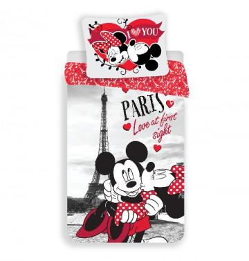 Povlečení Mickey a Minnie Paříž I love you 140/200, 70/90
