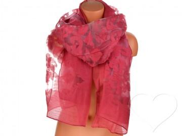 Eșarfă pentru femei de o culoare - roșu aprins